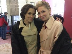 Winona with a co-star on the set of Show Me A Hero Show Me A Hero, Winona Ryder, Squad, Actors, David, Classroom, Actor, Manga