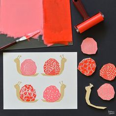 Andrea Lauren: Block Printing Stamps by Andrea Lauren Work in designs that are interchangeable or complementary, a series. Use in stamping or for screen printing. She's using screen printing ink/paint for richness. Diy Stamps, Handmade Stamps, Stamp Printing, Printing On Fabric, Screen Printing, Stencil, Make Your Own Stamp, Eraser Stamp, Stamp Carving