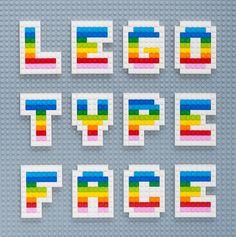 Lego Type Face // MiniEco: A Craft Book