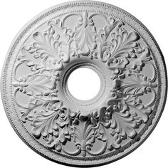 "23 7/8""OD x 4 7/8""ID Ashley Ceiling Medallion (Fits Canopies up to 5 1/2"") - $34.50"