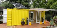 """Container houses are so cool! I can just imagine deciding to move, sealing it up, and sending it to the other side of the world. This is a """"cargotecture"""" house made from a recycled 24' cargo container by Hybrid Architecture."""