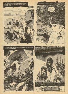 "Vampirella #29, November 1973.Warren Publishing. ""...and the Undead of the Deep."" Script:Mike Butterworth. Art: Jose Pepe Gonzalez."