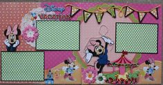 Minnie Mouse Disney Vacation Scrapbook Idea -