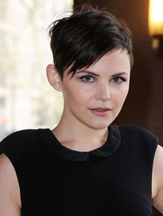 Piece-y Pixie  Ginnifer Goodwin is another star who can rock short tresses because of her milky skin and feminine look.