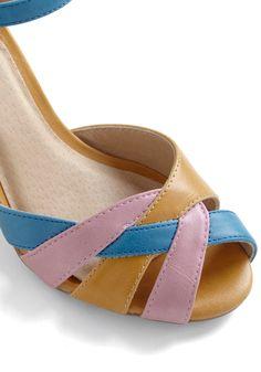$41.99 Sweet on Sweets Heel   Mod Retro Vintage Heels   ModCloth.com