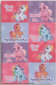 My Little Pony Stickers - 2 sheets (16 p)/Hasbro - Favours, Birthday Loot Bags