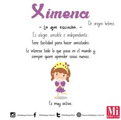 Ximena #NombresDeBebé #RecomendaciónMIB Cute Names, Baby Planning, Twin Girls, Baby Girl Names, Spanish Quotes, Baby Bumps, Baby Shower Cakes, Shadow Box, Baby Kids