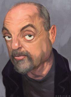Billy Joel  Artist: Andries Maritz  website: http://andriesmaritz.blogspot.com