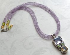 No3 - Pink Amethyst, Peridot, Citrine & Amethyst Beads | miabellacollection-jewelry - Jewelry on ArtFire