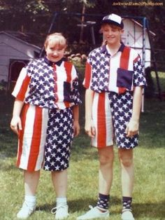 Shona and Eric Picklebergensteen. 4th July / spelling bee outfits.