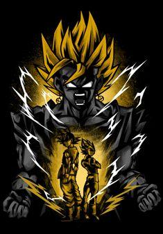 Gogeta E Vegito, Dragon Ball Z Iphone Wallpaper, Chica Gato Neko Anime, Dark Phone Wallpapers, Shadow Tattoo, Dbz, Geeks, Cool Artwork, Anime Art