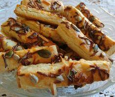 Füstölt sajtos magvas rúd receptje | Mindmegette.hu Cheesesteak, Rum, Ethnic Recipes, Rome