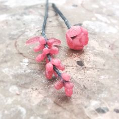 Wax model flowers turning into sterling silver earrings!