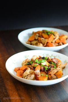 Paleo Sweet Potato Spicy Chicken Recipe | ahealthylifeforme.com
