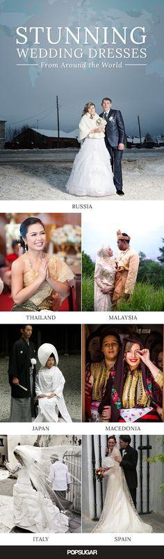 Stunning wedding dresses from around the world