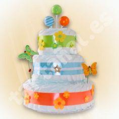 Tarta de pañales - Regalos originales para bebes Fantasía
