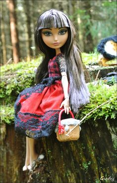 Cerise Hood doll photography by Gudy