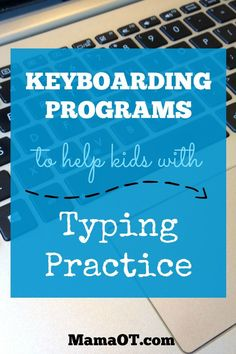 A whole list of keyboarding programs and apps to help kids with typing practice, ranging from structured typing lessons to fun typing games.