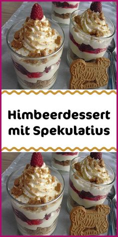 Zutaten 200 ml Sahne 250 g Quark 250 g Mascarpone 125 g Zucker 1 Pck. - Zutaten 200 ml Sahne 250 g Quark 250 g Mascarpone 125 g Zucker 1 Pck. Vanillezucker 350 g Himbeere - Raspberry Desserts, Fall Desserts, Cake Recipes, Dessert Recipes, Mini Burgers, Pumpkin Spice Cupcakes, Food Cakes, Food And Drink, Sweets