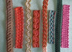 Polymer Clay Texture using Fabric Trim by Betty Jo Hendershott via Flickr (trim on left, polymer on right)