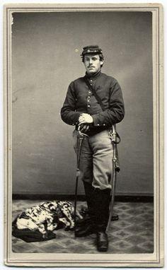 Military Men, Military History, American Civil War, American History, Old Photos, Vintage Photos, Vintage Photographs, Vintage Portrait, War Dogs