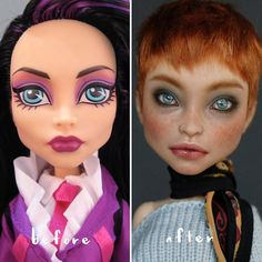 Artist Gives Children's Dolls Realistic Makeovers And The Results Will Blow You Away Lifelike Dolls, Realistic Dolls, Monster High Repaint, Monster High Dolls, Barbie, Ooak Dolls, Art Dolls, Bjd, Childrens Dolls