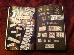 My crack the spine and leave this page blank pages. - Wreck This Journal