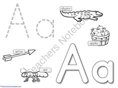 Alphabet+Tracing+and+Coloring+from+1plus1plus1equals1+on+TeachersNotebook.com+-++(26+pages)+