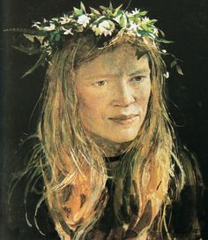 Crown Flowers by Andrew Wyeth, 1973.