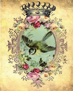 4_Layla___Forget_Me_Not___vintage_bird_collage___doolfacedesign_on_Etsy