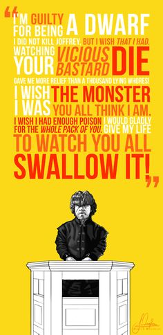 Tyrion Lannister trial quote - Game of Thrones