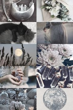 The Moon in a Jar — Gray Crystal Witch { more here } { request here } Gray Aesthetic, Witch Aesthetic, Aesthetic Collage, Wiccan, Magick, Witchcraft, Mandala Lunar, Fantasy Kunst, Foto Art