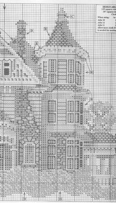 Ponto Cruz Casa. / Cross Stitch House.