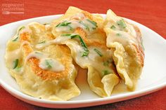 Traditional Polish pierogi, filled with a classic mixture of potato and cheese are a delicious side dish, well worth the time and effort involved.