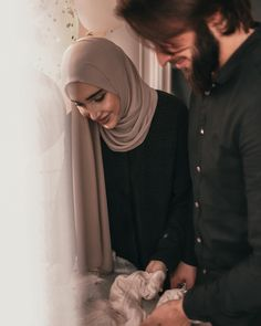 Cute Muslim Couples, Muslim Girls, Cute Couples Goals, Muslim Women, Cute Girl Outfits, Dressy Outfits, Blackpink Fashion, Hijab Fashion, Niqab