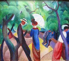 Retrospectiva 2014 - August Macke, um artista expressionista, uma obra colorida  http://designmuitomais.blogspot.com.br/2015/01/retrospectiva-2014-august-macke-um.html