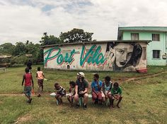 We chatted to Rone, a street artist from Melbourne yesterday. He told us about this spur of the moment mural in Vanuatu. Check out his work here.