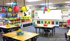 This kindergarten classroom wasn't completely decorated during the first week of school and it was ok. Blog post shows the transformation.