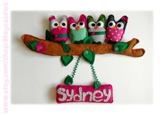 Owl Friends with Name Sign. Wall hanging for a nursery. Personalized. 3D Wall Decor. For Nursery or Kids' Room. Made to order item. on Etsy, $48.68 CAD