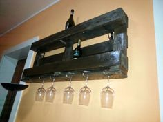 Realizzazione porta bottiglie epal pallets