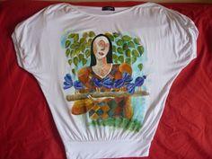 riproduzione di un opera di Echeverria su maglia di cotone