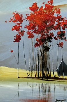 Red is my best selling color when it comes to my landscape artwork.