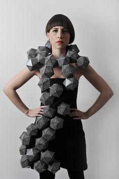 Geometric Fashion - 3D geometric structure - experimental fashion design; sculptural fashion; wearable art // Amila Hrustic