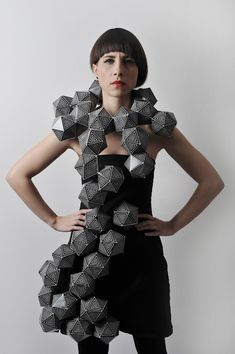 Geometric Fashion - 3D geometric structure - experimental fashion design; sculptural fashion; wearable art // Amila Hrustic