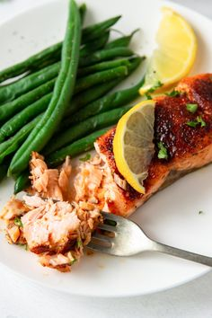 This Air Fryer Salmon is one of our very favorite easy, healthy salmon recipes. It's incredibly tender and flaky, with an irresistible caramelized crust! Healthy Salmon Recipes, Beef Recipes, Real Food Recipes, Chicken And Beef Recipe, Basic Butter Cookies Recipe, Best Air Fryers, Roasted Salmon, Quick Dinner Recipes, Kitchen Recipes