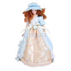 7,50Dollhouse Miniature Porcelain Dolls 15 cm Victorian Lady in Dress & Hat w/ Stand-in Dolls from Toys & Hobbies on Aliexpress.com | Alibaba Group