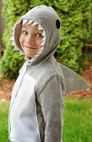A Thrifter in Disguise: DIY Shark Costume From a Hooded Sweatshirt