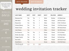 Wedding invite tracker - Templates - Awesome - works great!