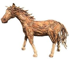 Suppliers of a spectacular life-size driftwood horse, small horse sculpture and driftwood horse heads. Horse Sculpture, Animal Sculptures, Tree Roots, Outdoor Settings, Horse Head, Quotation, Driftwood, Teak, Moose Art
