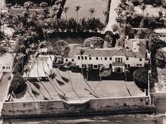 """The Kennedy Compound  1095 N. Ocean Blvd.  Palm Beach, FL 33480  The 11-bedroom home called """"La Guerida"""" which means """"bounty of war"""", served as the """"Winter White House"""" during the John F. Kennedy administration. Originally built in 1923, the house was sold in 1933 to Joseph Kennedy as a family vacation home for $120,000. It was totally renovated in the 1990s and went on the market in 1993 for $7million. It finally sold in 1995 for nearly $5million to New York banker John K. Castle."""